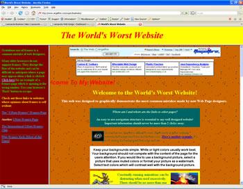 The World's Worst Website